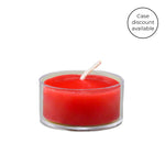 Red Tealight in Clear Cup Beeswax Candles