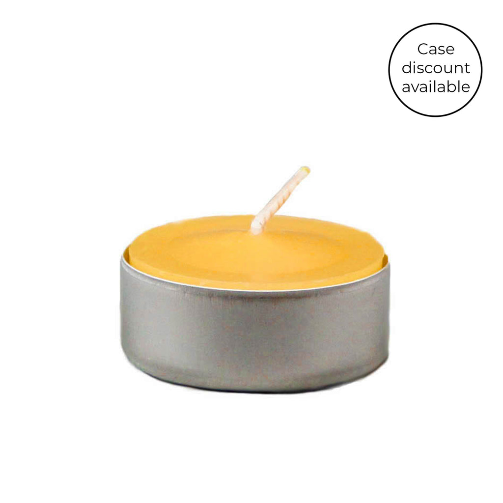 Natural Tealight in Aluminum Cup Beeswax Candles