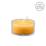Temporarily Unavailable - Natural Tealight in Clear Cup Beeswax Candles