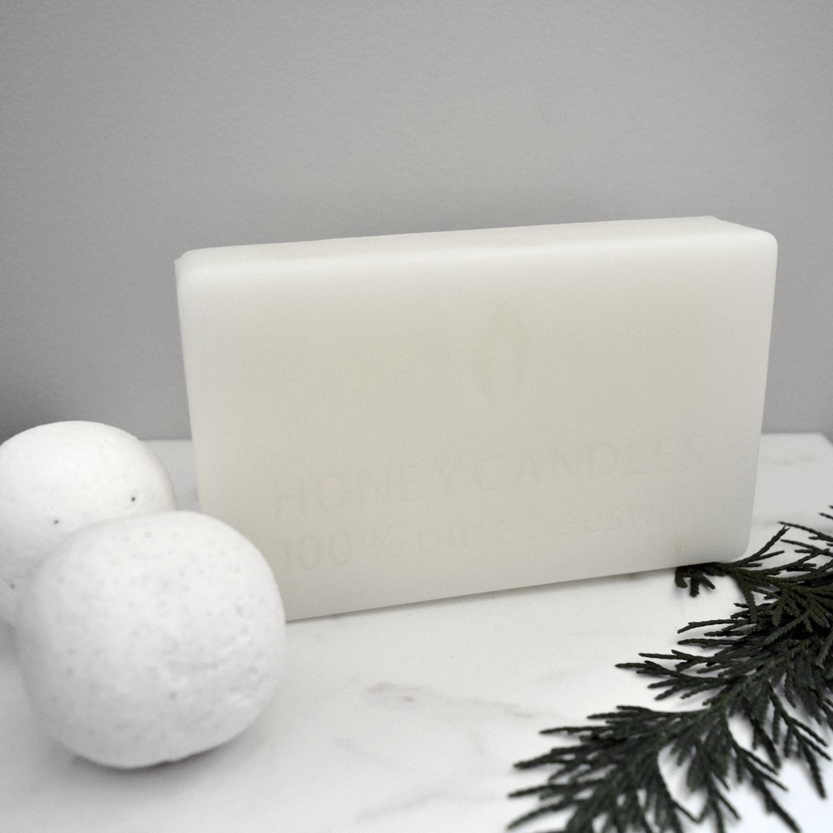 White pure beeswax block made from 100% pure North American beeswax