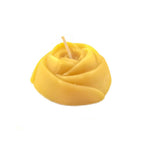 classic natural colour rose shaped bees wax candle