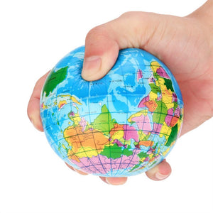 High Quality Stress Relief World Map Foam Ball
