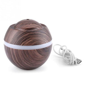 Aromatherapy Wood Grain Ultrasonic Humidifier