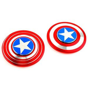 Captain America Shield shape Fidget Spinner