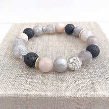 Load image into Gallery viewer, BEST SELLER: Agate + Lava Bead Bracelet - Essential Oil Diffuser Bracelet - Aromatherapy Bracelet - Crystal Healing - Diffuser Jewelry