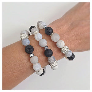BEST SELLER: Agate + Lava Bead Bracelet - Essential Oil Diffuser Bracelet - Aromatherapy Bracelet - Crystal Healing - Diffuser Jewelry