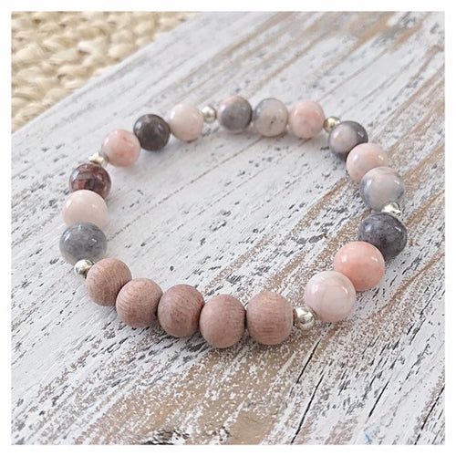 BEST SELLER Essential Oil Diffuser Bracelet | Rosewood + Gemstone Beaded Bracelet
