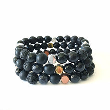 Load image into Gallery viewer, Black Essential Oil Diffuser Bracelet | Lava Bead Bracelet