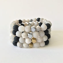 Load image into Gallery viewer, Lava Bead + Agate Gemstone Diffuser Bracelet | Aromatherapy Beaded Bracelet
