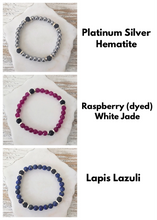 "Load image into Gallery viewer, ""The Skinnies"" Gemstone + Lava Bead Diffuser Bracelets"