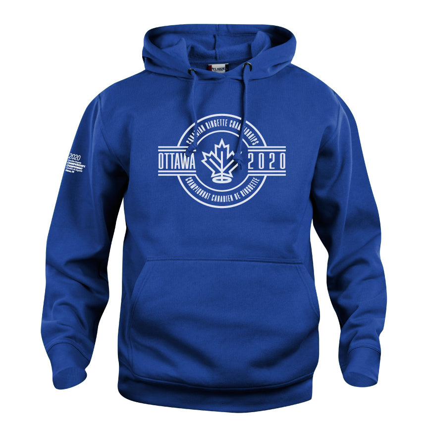 Unisex Hooded Sweatshirt Blue - Crest Logo