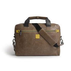 Golla Road Commuter Bag with Matt 16 Inch/40.6 CM Laptop Compartment Brown/Yellow g1574