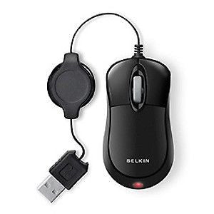 Belkin F5L016-USB-BLK retractable mobile USB mouse black