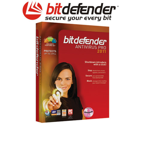Bitdefender Anti Virus Pro 2011 3 user 1 year download