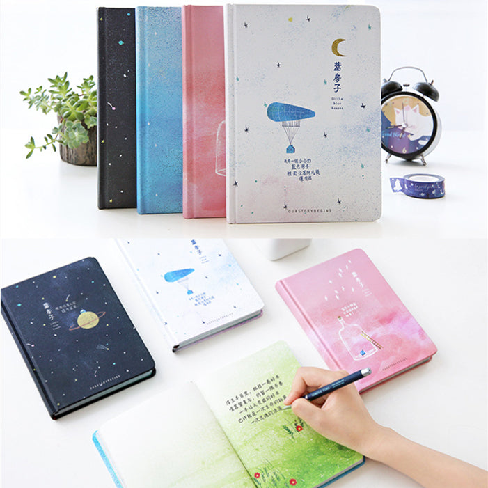 4 Colors 'Our Story Begins' Planetary Collection Notebook L045