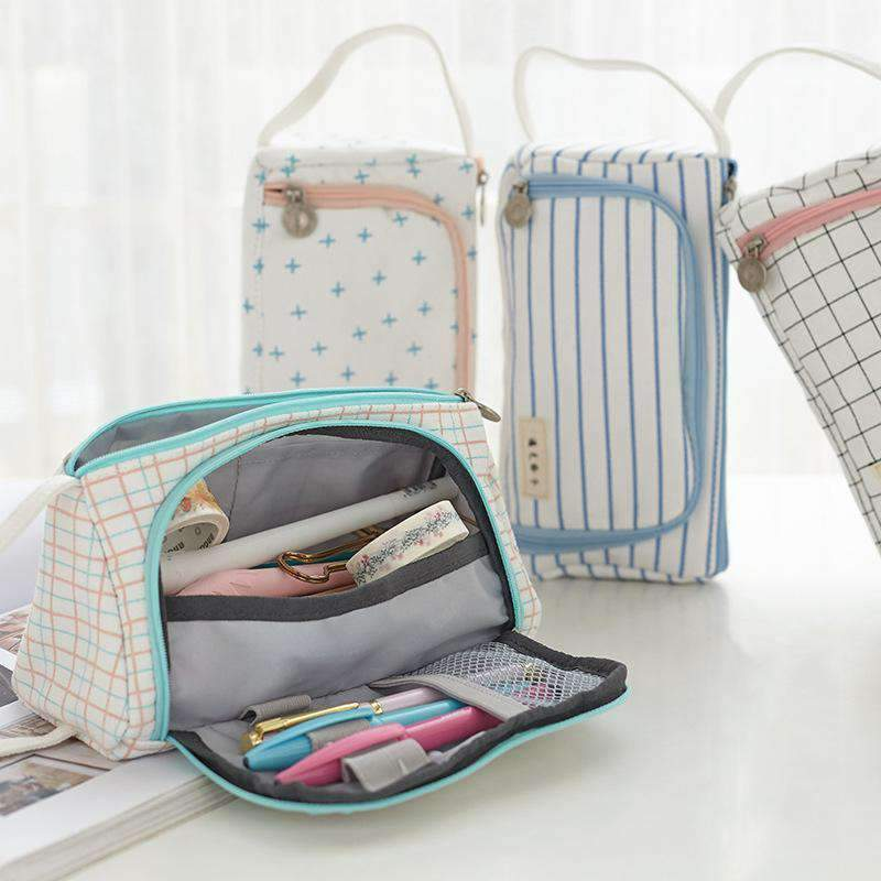 Pouched Stationery Organiser Pencil Case L015