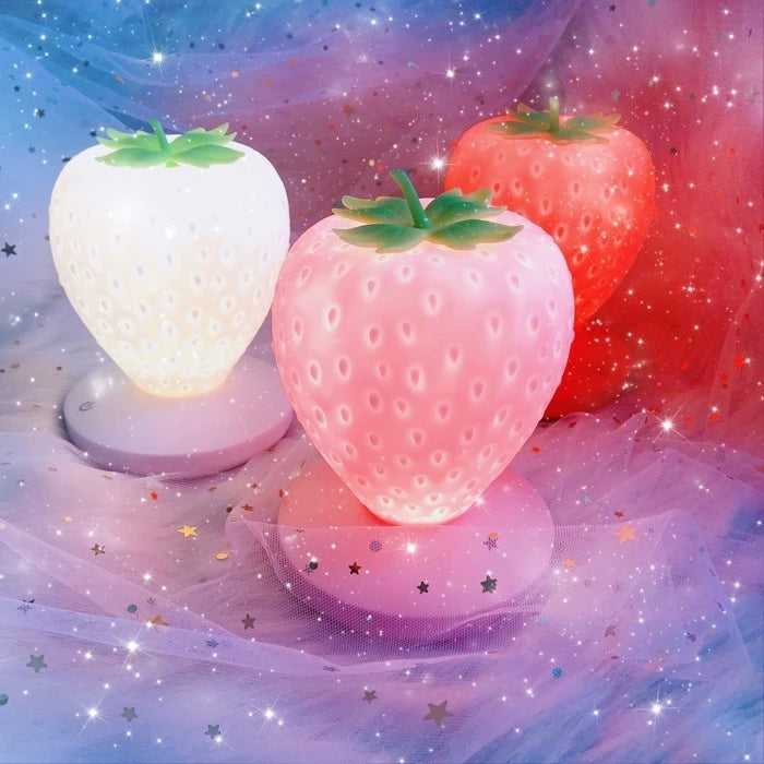White/Red/Pink Kawaii Strawberry Lamp L14601