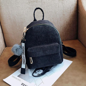 Compact Corduroy Mini Backpack