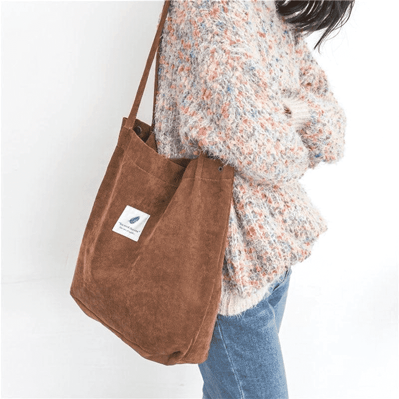 7 Colors Corduroy Tote Bag