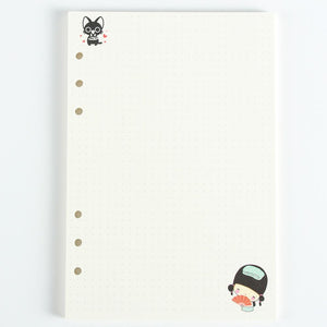 Dotted Paper with Japanese Illustrations