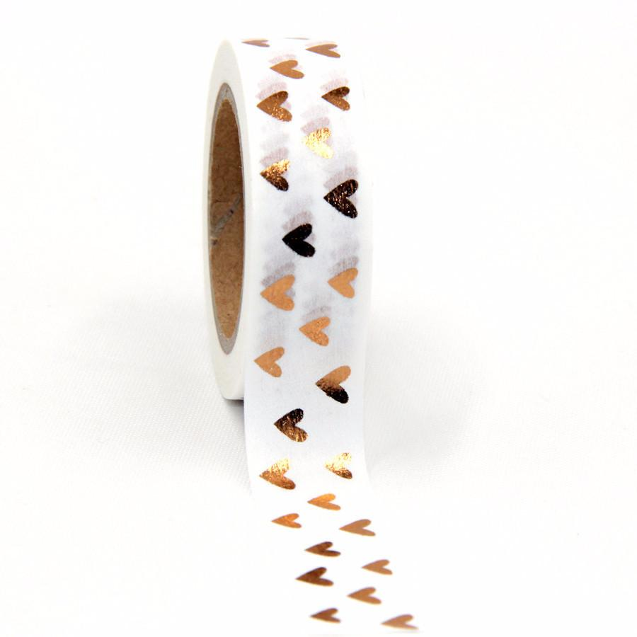 Golden Hearts Washi Tape