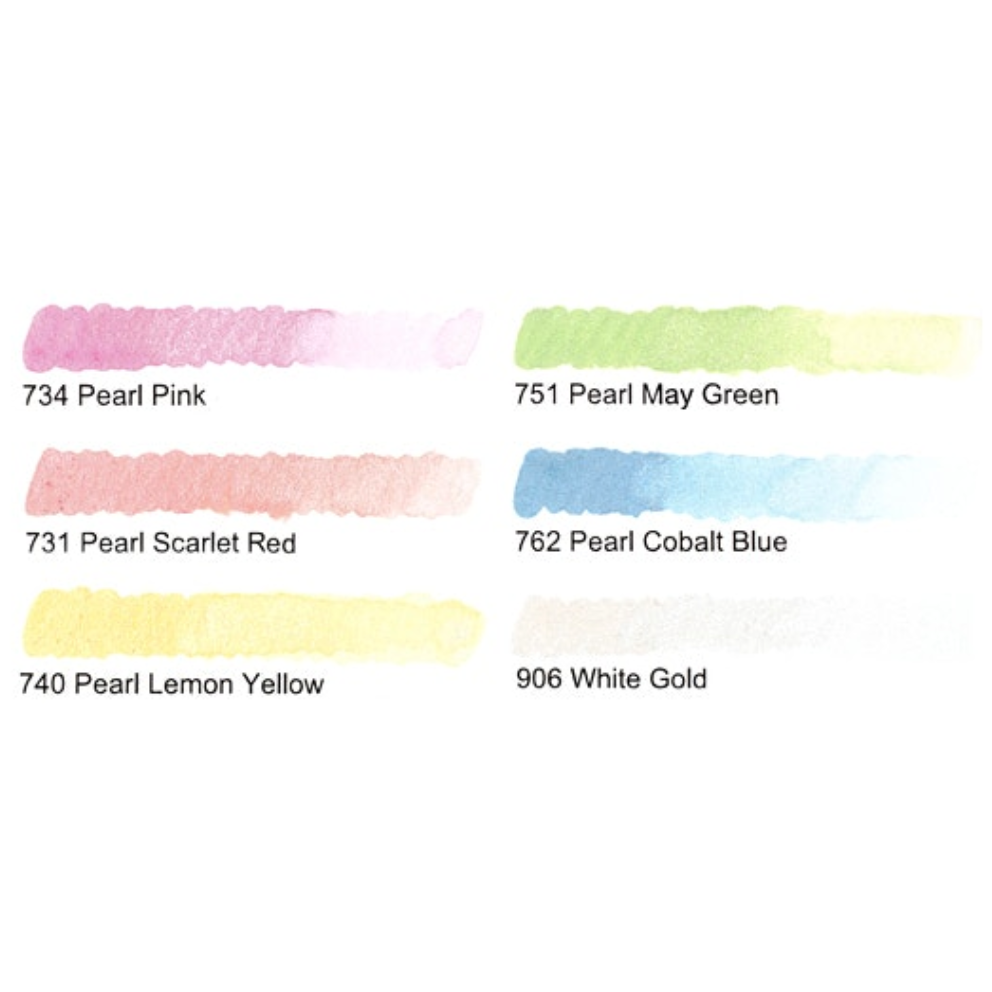 Kuretake Gansai Tambi Pearl Colors - 6 Color Set