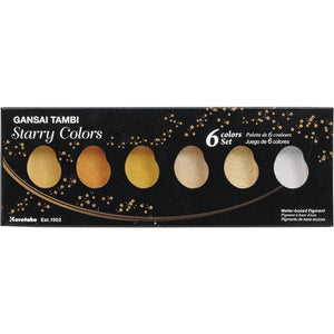 Kuretake Gansai Tambi Starry Colors - 6 Color Set