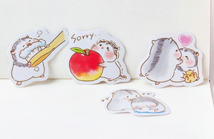 Two Hamsters Paper Stickers