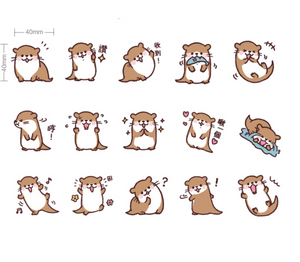 Lovely Sea Otter Paper Stickers