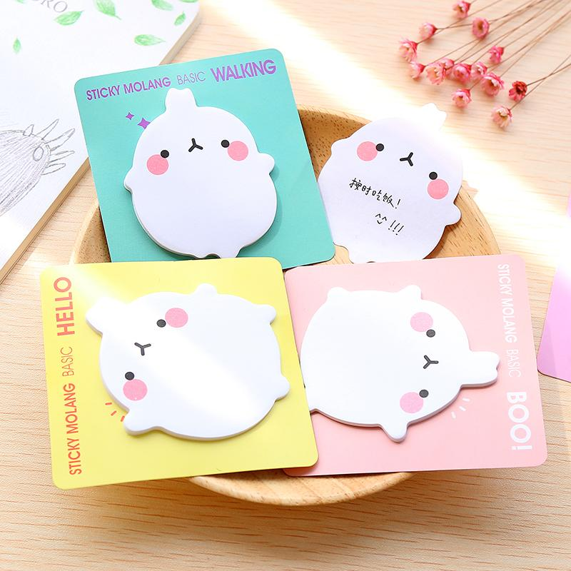 Molang Rabbit Post-it Memo Pad