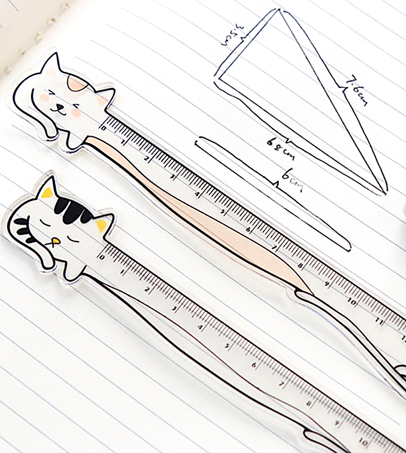 Napping Cat Plastic Ruler