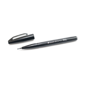 Pentel Fude Touch Brush Sign Pen - Black