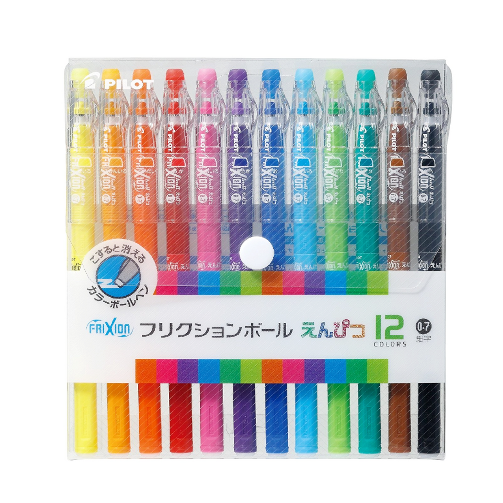 Pilot FriXion Color Pencil-Like Erasable Gel Pen - 12 Color Set