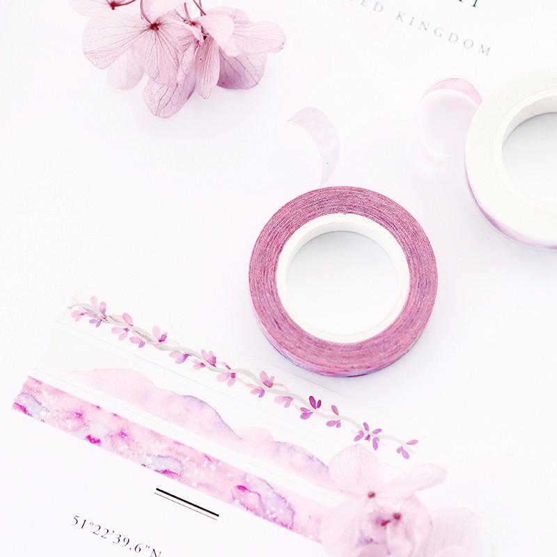 Slim Purple Watercolor Washi Tape