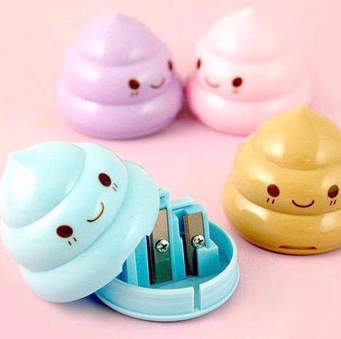 Smiling Poop Pencil Sharpener L056