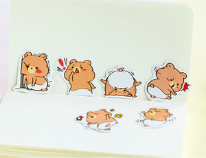 Teddy Paper Stickers