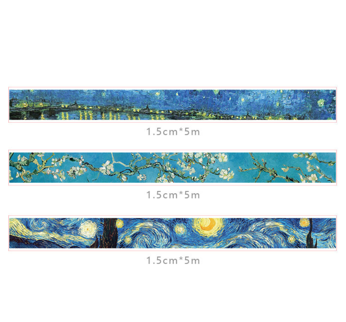 Van Gogh Painting Washi Tape Set