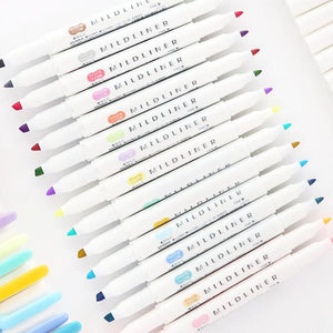 5 Zebra Mildliner Double-Sided Highlighters L14592
