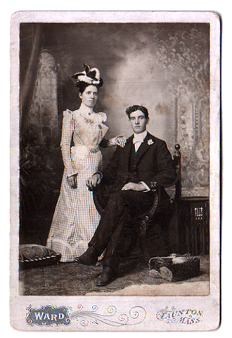 Joseph Brimicombe & Eunice E. Wilcox 1899 Cabinet Card Photo