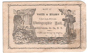 1860's White & Hyler's (Hyler) Excelsior Photographic Hall, Middletown, Orange County, N.Y.