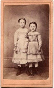 1860's CDV Hattie & Dora Keith Genealogy New Jersey
