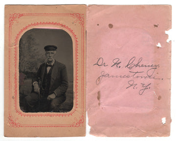 c. 1890's Tintype Photograph of Dr. N. Cheney, Jamestown NY
