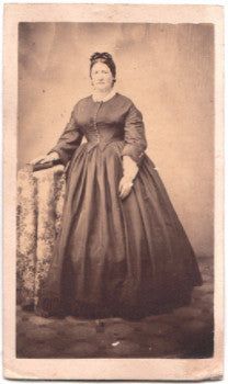 1860's Hattie Graves CDV Photo, wife of Henry Graves, Ohio, Indiana