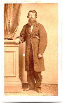 1860's Henry Graves CDV Photo, husband of Hattie Graves, Ohio, Indiana