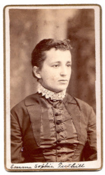 1870 Emma Sophia Hubbard Tuthill Photo, Pana, Brown County, Illinois