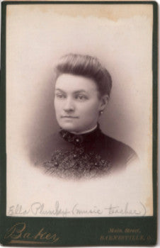 1880's Ella Plumley Cabinet Photo, Barnesville, Ohio (Aaron Plumley)
