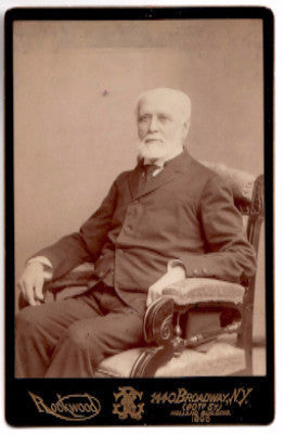 1896 Dr. Lewis Hallock Cabinet Card Photo, NYC NY Homeopathic Doctor