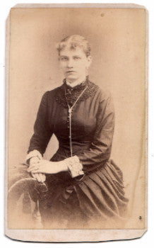 1870's Carrie M. Flandreau CDV Photo, Whitehall, Washington County NY