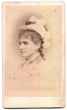1870's Fannie Rutters CDV Photo, Milton Dutchess, Poughkeepsie NY