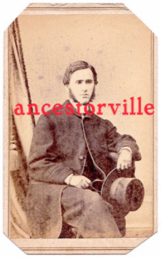 1860's Rev. Reese Alsop CDV Photo, Father of Flicka Author Mary O'Hara